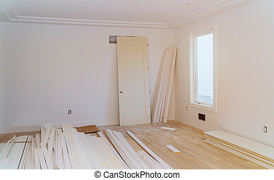 stage., sheetrock, hinzufügung, haus, remodel., baugewerbe, unter, neu , drywall