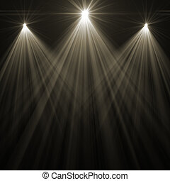 stage spot lighting - concert spot lighting over dark...