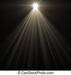 stage spot lighting over dark background