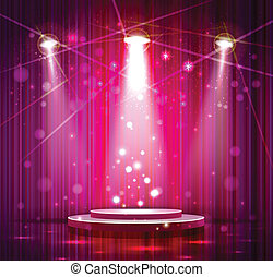 stage - spotlight effect scene background