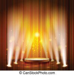stage - spotlight effect scene background