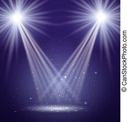 stage., vetorial, illustration.