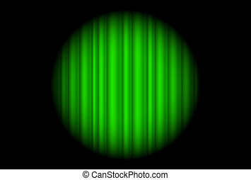 Stage with green curtain and big spot light