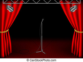 Stage with isolated microphone