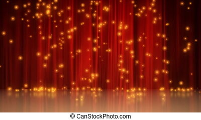 Stage with red curtain - CG stage with red curtain...
