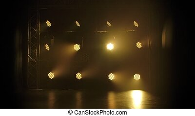 Stage with spot lighting. Shining empty scene for holiday ...