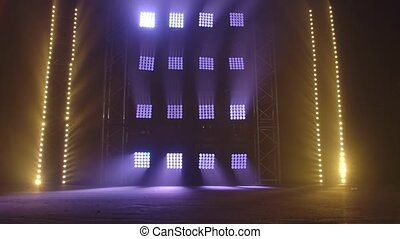 Stage with spot lighting, shining empty scene for holiday ...