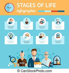 Stages of life infographic report print - Concise infografic...