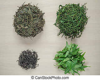 Stages of production of fermented tea leaves. Fermented Ivan-tea.