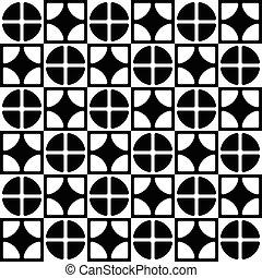 staggered, segmentato, modello, astratto, linee, cerchi,...