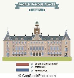 staghuis, rotterdam, pays-bas, fourgon