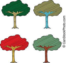 stagionale, astratto, albero
