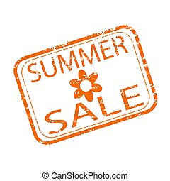 stagionale, estate, shopping, francobollo, vendita, gomma, scontare, design.
