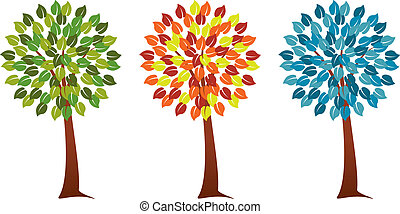 stagionale, set, albero