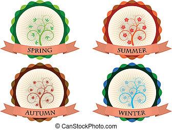 stagione, distintivo