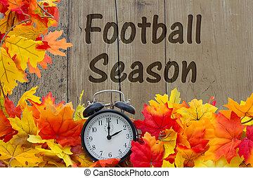 stagione, football, tempo