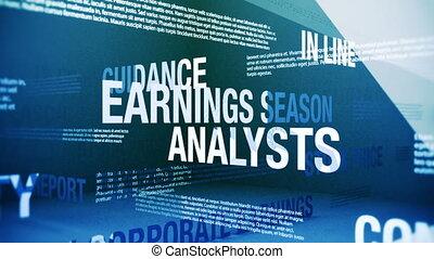 stagione, termini, guadagni, relativo