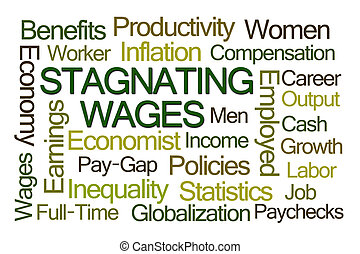 Stagnating Wages Word Cloud