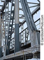 stahl, brücke, nahaufnahme, altes , 2, struktur