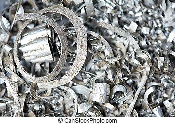 stahl, metall, schrott, materialien, mülltrennung, backround