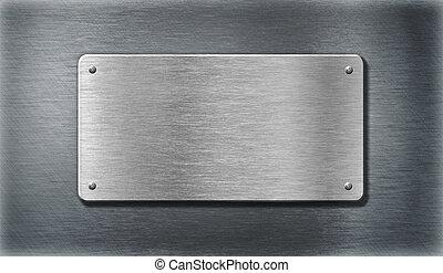 stahl, rostfrei, metallplatte