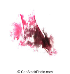 stain burgundy, cherry with watercolour paint stroke...