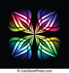 Abstract stain glass flower pattern. Vector illustration #3