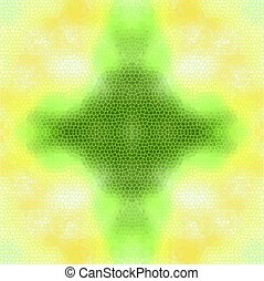 Stain-glass window background. Yellow and green