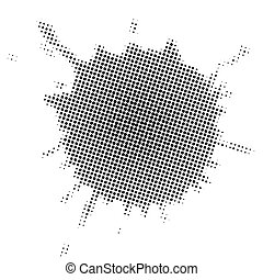 Stain in halftone effect