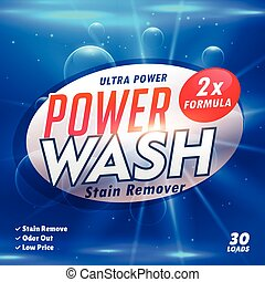 stain remover laundry detergent product designing template