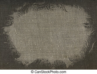 Stained canvas - Dirty stained linen striped textured canvas...
