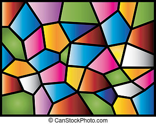 A colourful modern stained glass design.