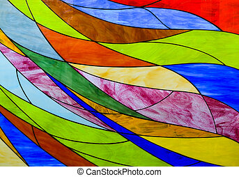Stained glass background - Colorful stained glass background...