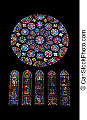 Stained glass - Chartres cathedral stained glass