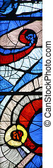 Stained glass church window