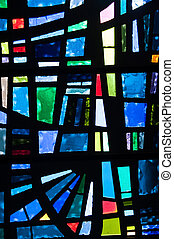 Stained Glass - Closeup of a stained glass window panel