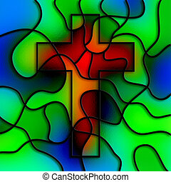 Stained Glass Cross - I have created this cross image ...