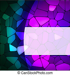 Stained glass design template. EPS 8
