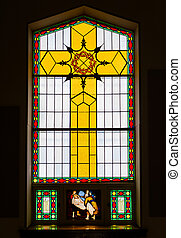 Stained Glass Details inside a Chusrch