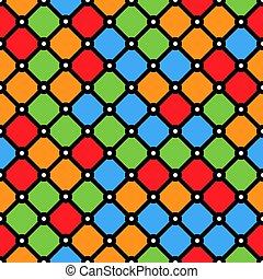 stained-glass, egyszerű, motívum, alakzat, ablak, geometriai