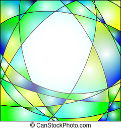 Stained Glass - Illustration of a stained glass window