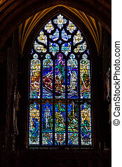 stained glass in a church window
