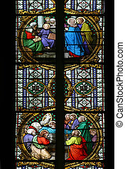 Stained glass in Zagreb cathedral