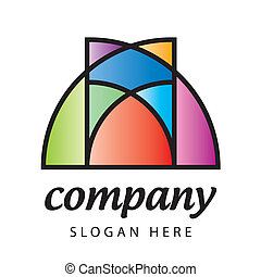 stained-glass logo