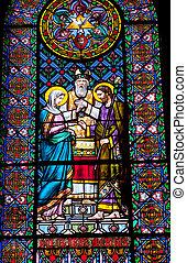Stained Glass Mary Joseph Marriage Rabbi Monastery...