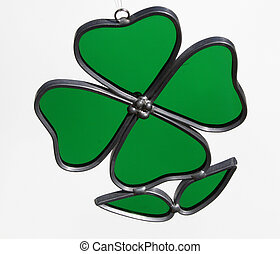 4 leaf clover - Stained glass of 4 leaf clover to celebrate ...