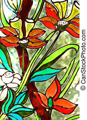 Stained-glass painting - Painting on a window, drawn the ...