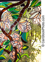 Stained-glass painting