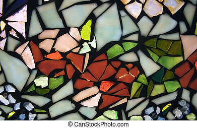Part of a stained glass window in a house