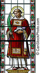 Stained glass, Saint Stephen